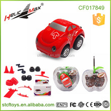 Promotional Gift Toy Q Edition Car Series with Stunt Fittings, Apple Shape Packing Cheap Toy Cars