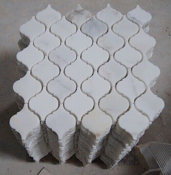 Calacatta Marble Hexagon Mosaic Tile Square Shape And White Color