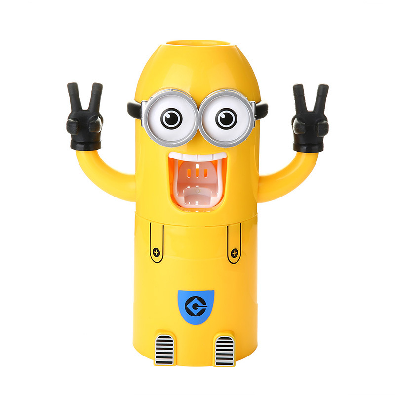 Bathroom Children Gadgets Kids Minions Automatic Toothpaste dispenser