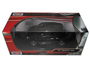 Collectable Diecast Motormax Abarth Fiat 500 1/24 Black