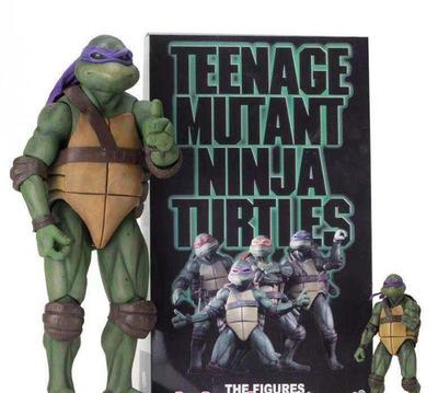 Famosa película personaje modelo ninja de juguete tortugas edición limitada, muñeca móvil de 7 pulgadas modelo de mano
