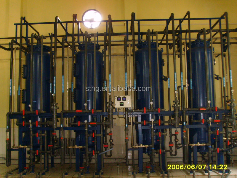 Mixed bed system, ion exchange column for ultrapure water