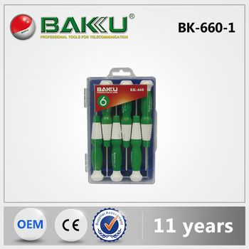 BAKU types of screwdrivers with the material handle mini precision screwdriver set BK-660-1/BK-660-2