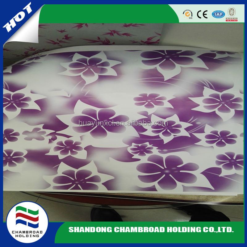 flower ppgi pattern prepainted galvanized steel strip iron sheet plate coil xingfu boxing