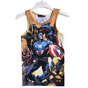 Wholesale Custom Mens 100% Full Singlets Clothing Blank 100% Polyester Price Sublimation Tank Top