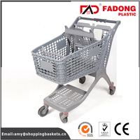 folding plastic utility trolley cart of convenience