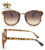 2018 High Quality Cheap Fashion Leopard Ladies Round Frame Sunglasses