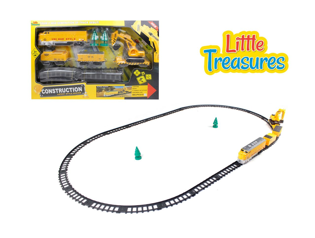 Train Tracks Engineering Fixer Man Set - drive down this construction train set and fix all the tracks while you drive down the line - fun toy for kids ages 3+