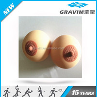 breast shape stress ball,customized logo breast TPR toys,breast TPR squeezing ball