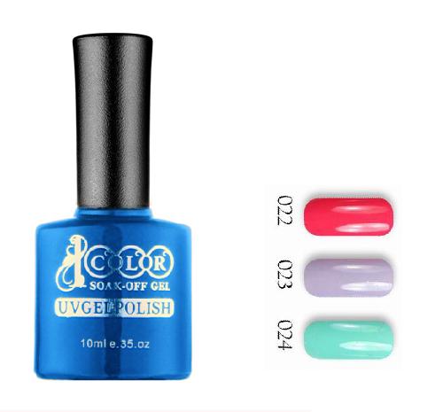 free shipping 6pcs Color 1000 pure soak off LED UV nail gel 10ml 75 colors for