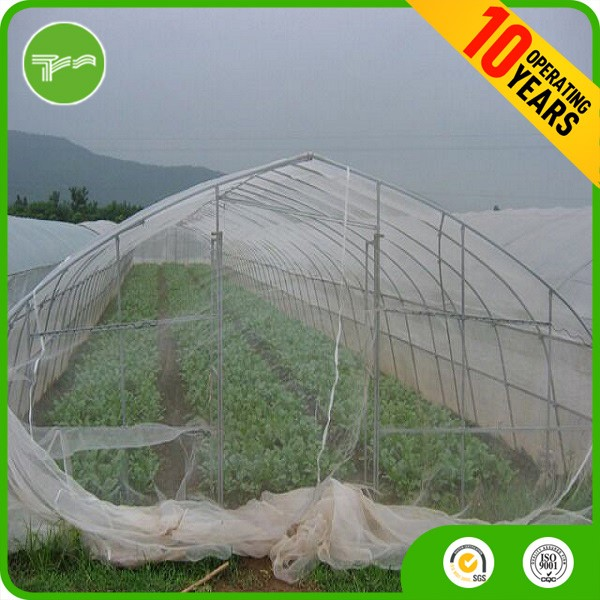 Blue three needles insect netting for plants white