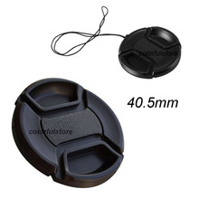 New Arrival   40.5mm 40.5 mm Center Pinch Snap-On Front Lens Cap Cover For Canon Nikon Sony DSLR Camera Lens Hood Filter Adapter
