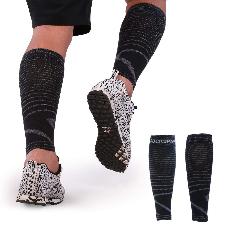 e2bf797b47 Get Quotations · Calf Compression Sleeve for Women & Men,15-20mmhg Calf and  Knee Compression Sleeve