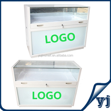 Led Light Inside Glass Mobile Phone Display Counter