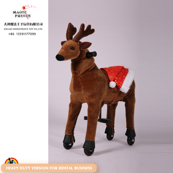 More details of ride on animal toy for kids both at indoor and outdoor place, Christmas Reindeer
