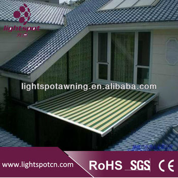 Electric Canopy TentAwnings For OutdoorsGlass Awning SystemAluminum Sunshade