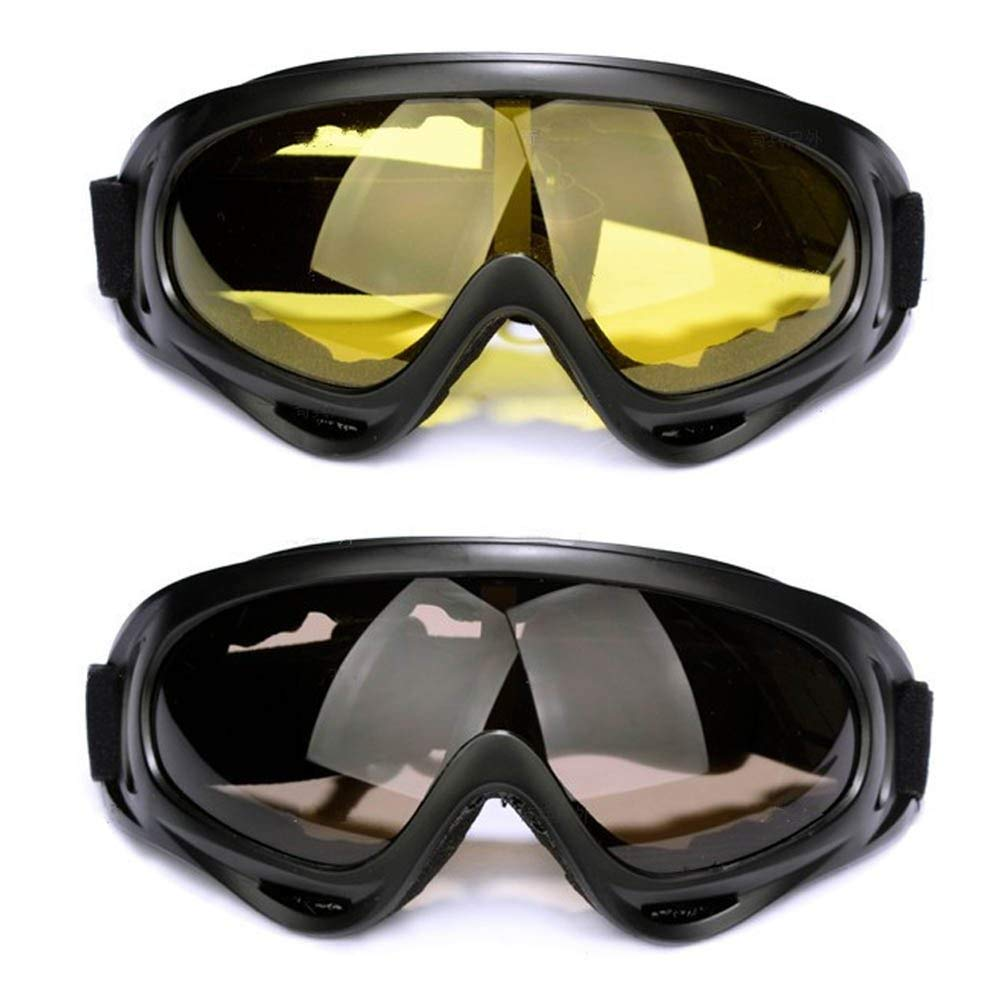 Snow Goggles,FOME 2pcs Sport Sunglasses Snow Goggles Snowboard Goggles with UV400 Protection Windproof Anti-Glare Lenses for Kids Men Women Adults for Riding Motorcycle Skating Skiing Snowboarding