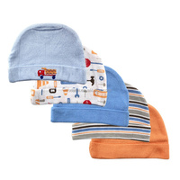 newest nature fabric superior texture pure color little car pattern cap baby boy