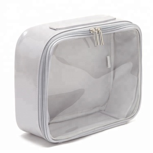 wholesale fashionable cheap waterproof pvc cosmetic bags with zippers
