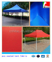 waterproof pvc coated polyester tent fabric