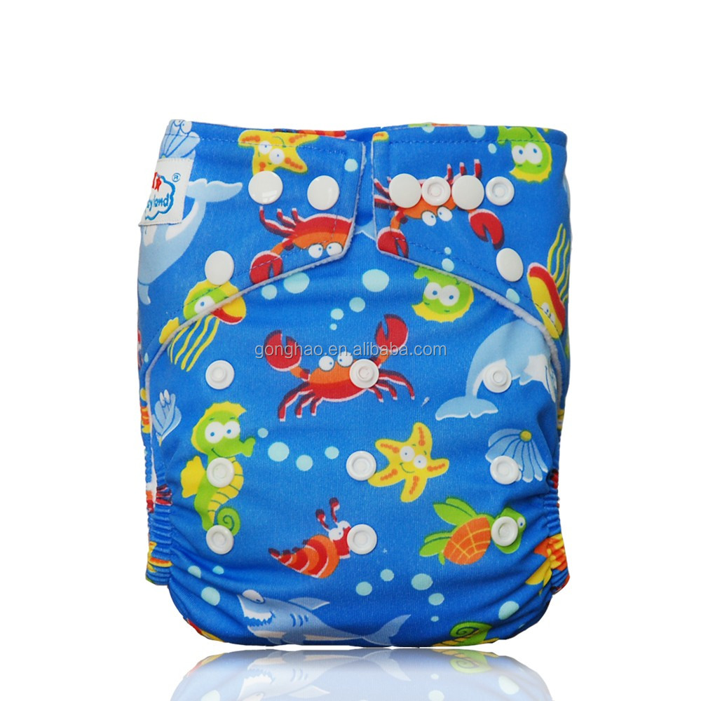 Cartoon Pprinted Modern Baby Pocket Cloth Diaper/Cloth Nappy
