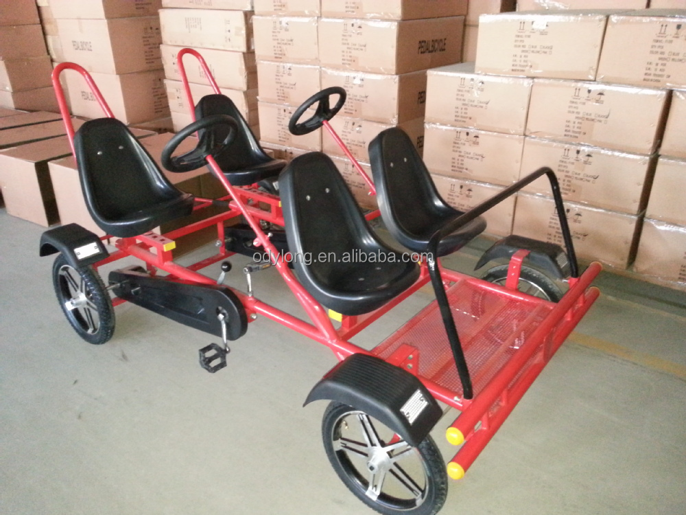 4 Person Four Seat Pedal Car Four Wheel Surrey Bike - Buy Four Wheel Surrey  Bike,4 Person Bike,Four Seat Pedal Car Product on Alibaba com