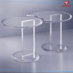 Custom acrylic or wooden round retail display table