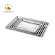 Free sample Cheap 20 mm depth flat durable stainless steel bbq serving cafeteria tray