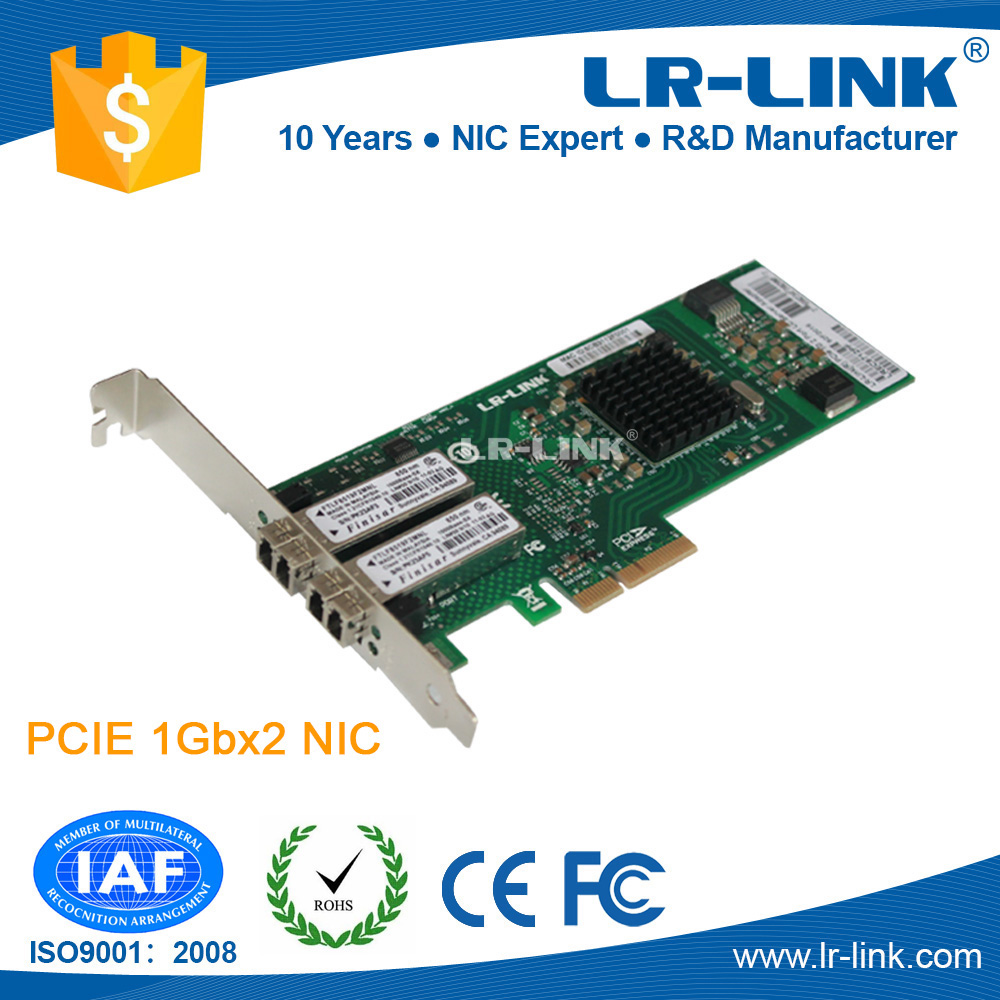 Broadcom BCM5715S PCI-E Gigabit Fiber LC Dual Port NIC network interface card for Server