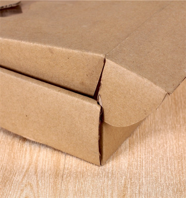 Custom Folding Kraft Paper Box For Packaging Food With No Glue