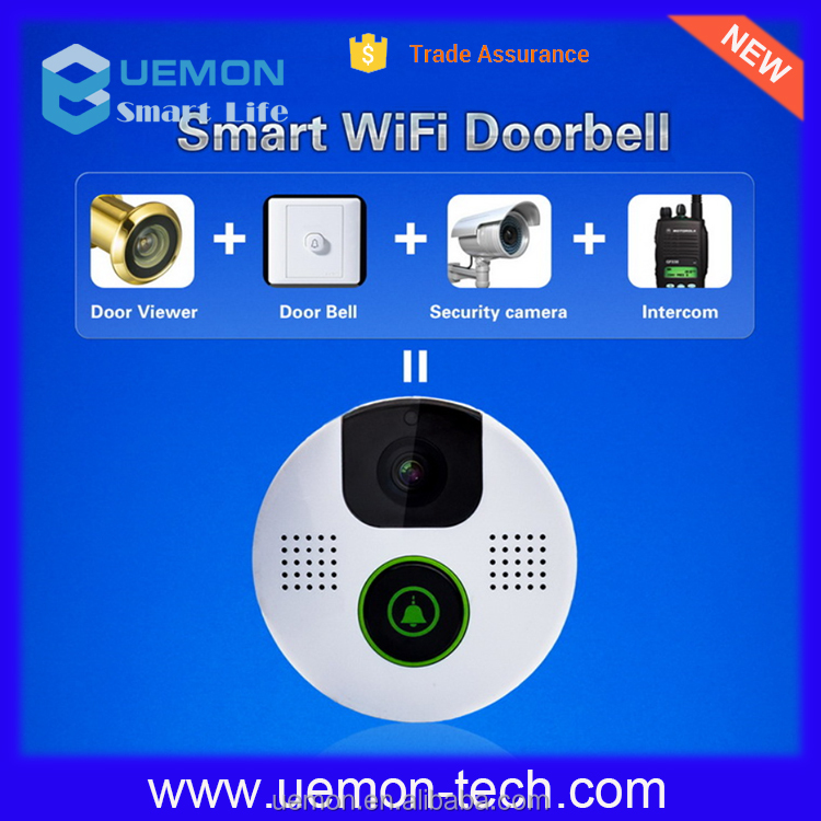 Smart Door Viewer Bell Wireless Door Pinhole Camera with iOS Android App Motion Detection