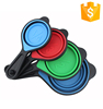 Colorful Measurements For Dry Cups Collapsible Silicone Measuring Spoon