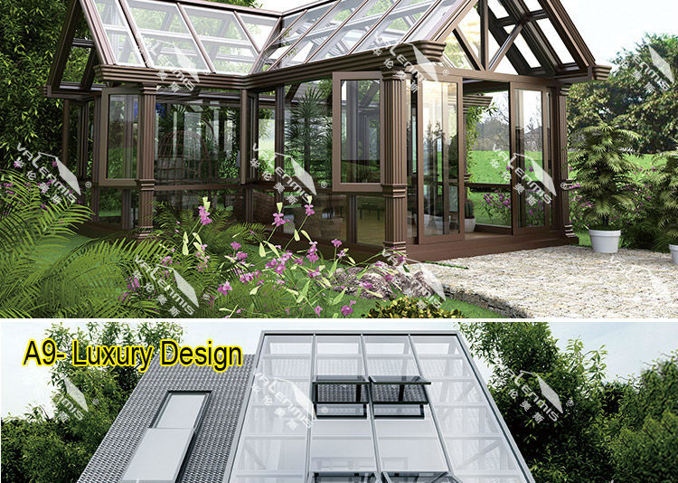 Energy efficient double pane insulated glass aluminium for Garden glass room