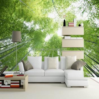 Wallpaper Bambu Hijau Pemandangan Langit Dekorasi Ruang Tamu Langit-langit  Kustom Wallpaper - Buy Bambu Wallpaper,Pemandangan Wallpaper,Sky Wallpaper