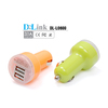 Wholesale Colorful Portable Quick Charging 5V 2.4A Mini Dual Port USB Car Battery Charger For mobile Smartphone