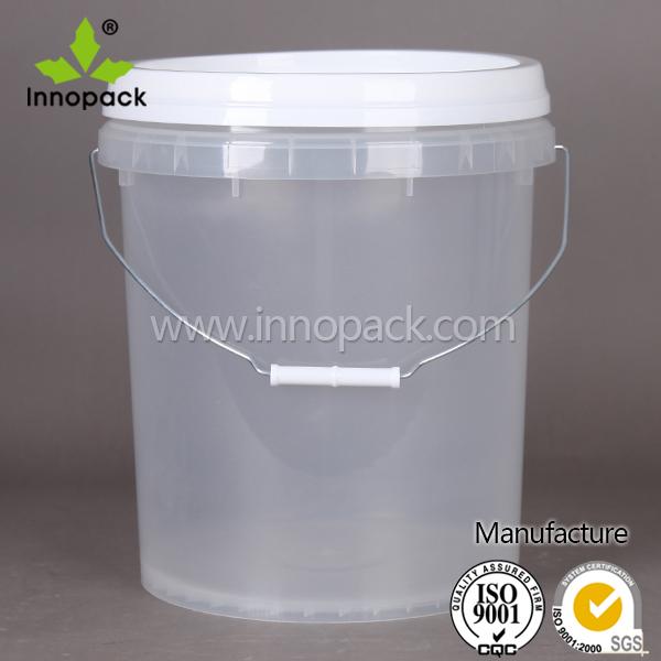 custom runden billige transparenten kunststoff eimer 20 liter mit griff trommel eimer und fa. Black Bedroom Furniture Sets. Home Design Ideas