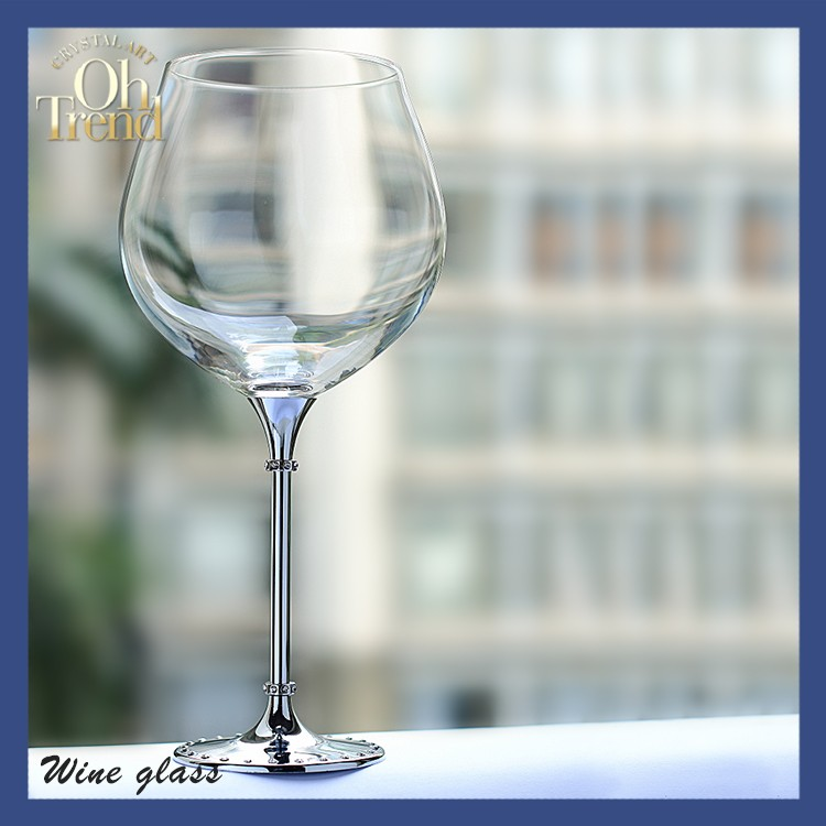 Wholesale sh red wine glass stemware cheerful glass goblet Large wine glasses cheap