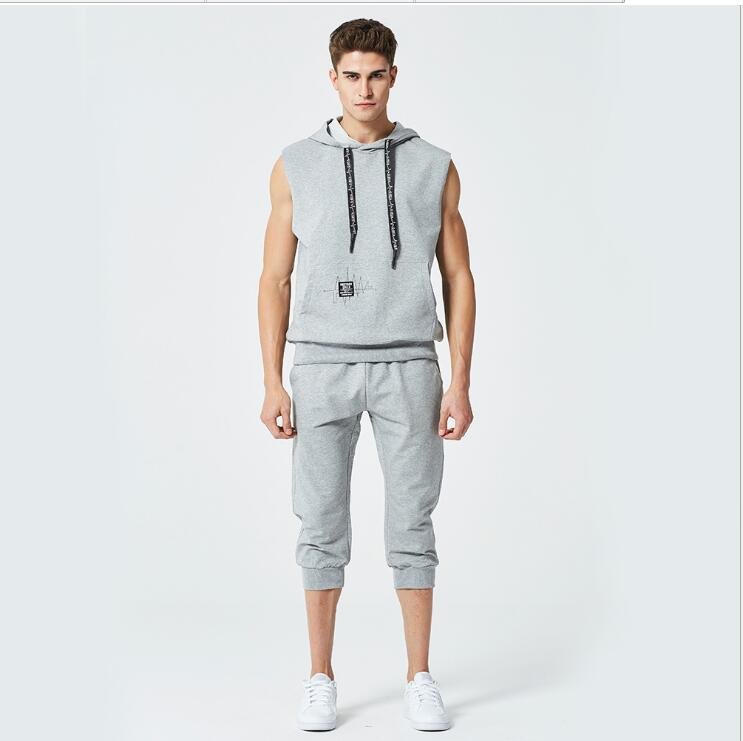 Mens Hoodies Sweatshirts Mann Lässig Sport Sleeveless Pullover Plus Size