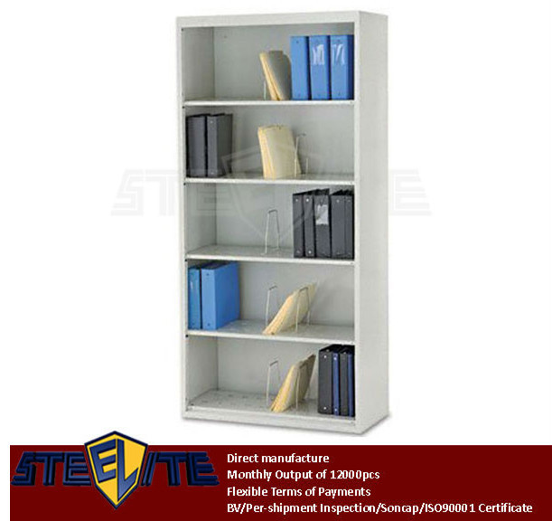 Filing Storage Open Shelf Cabinet Wall Mounted Metal File Without Door