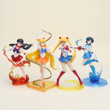 OEM popular sailor moon PVC action figure Christmas gifts custom cartoon style vinyl figures