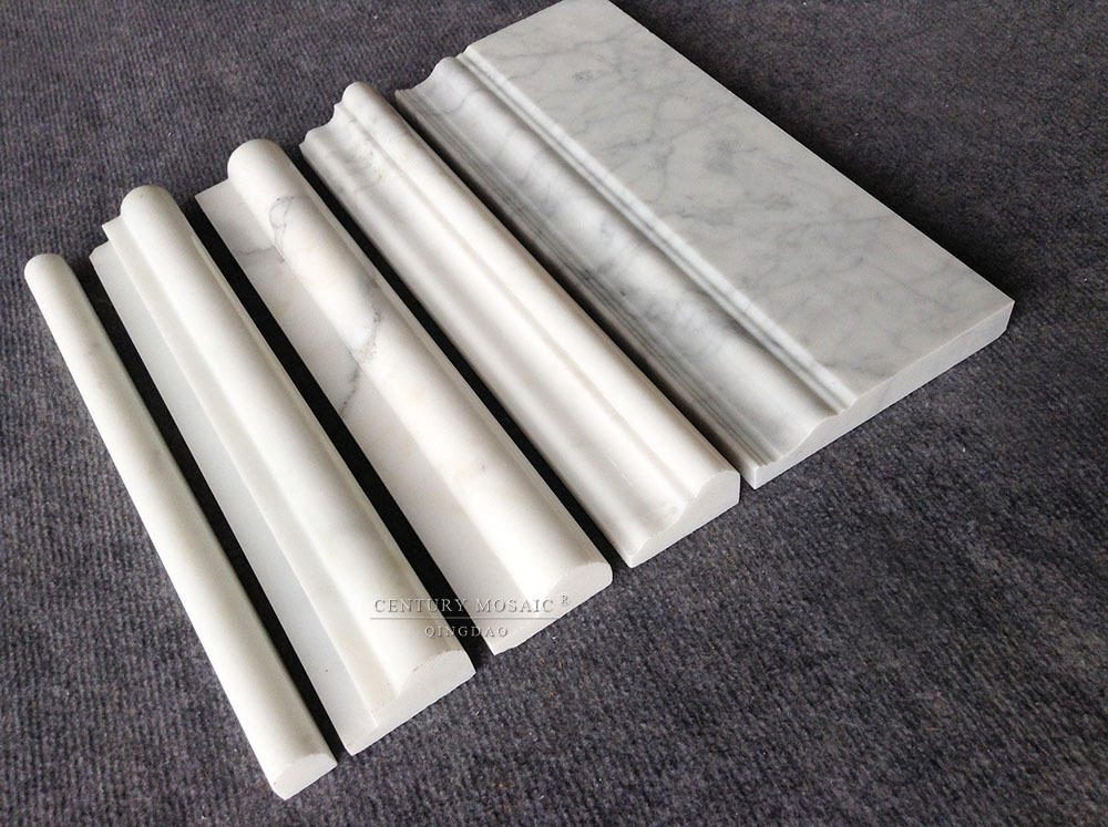 Italian White Calacutta Gold Marble Bathroom Tile Trims
