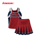 New red hot plus size cheerleading uniforms custom