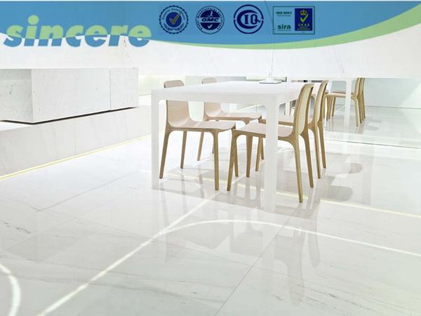 azulejo pulido súper brillante piso de porcelanato blanco-Alicatados ...