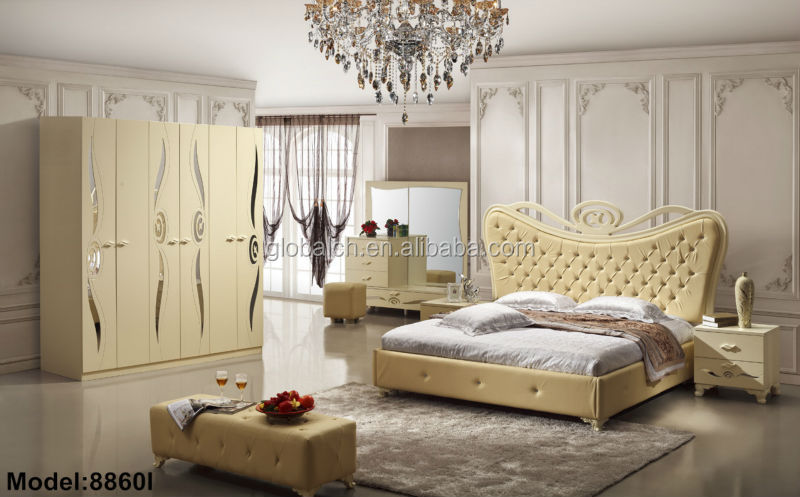 Latest Designs European Style Wooden Bedroom Furniture  bed  dresser and  wardrobe. Latest Designs European Style Wooden Bedroom Furniture Bed Dresser