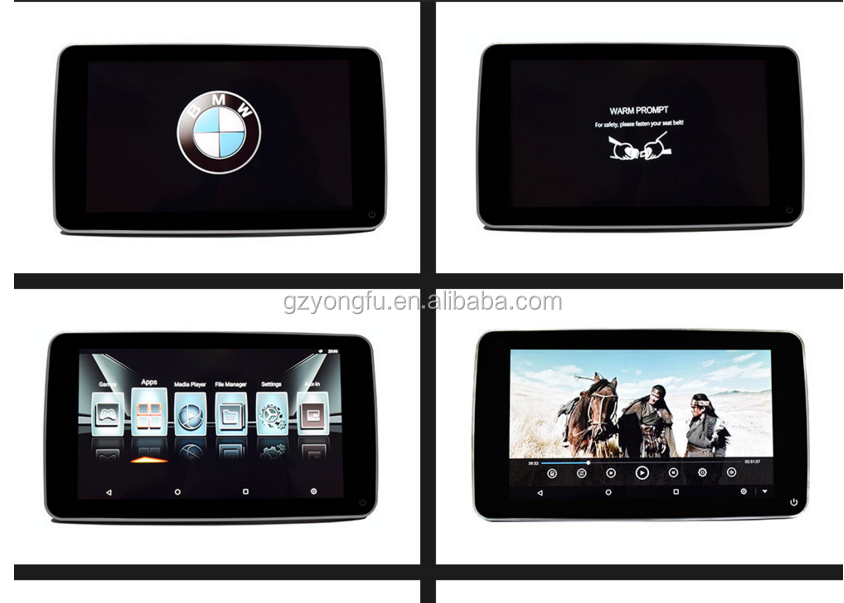 For all car make 11.6 inch car tv monitor with wifi bluetooth Android touch screen headrest monitor with hdmi input