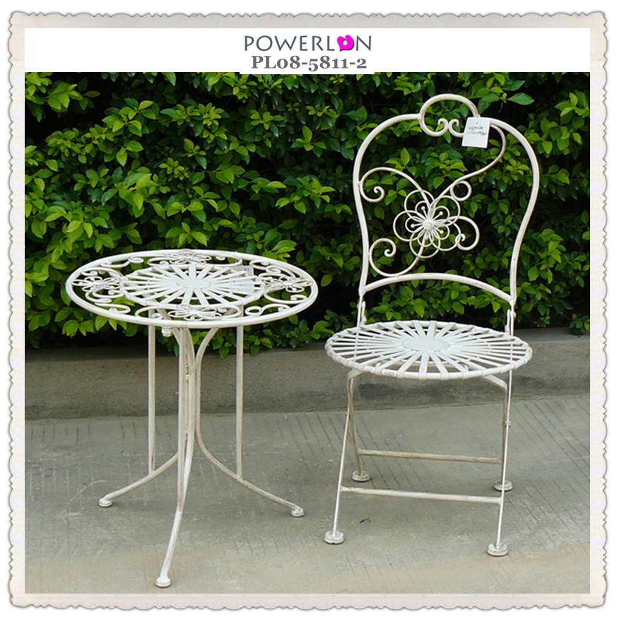 French Rustic Metal Miniature Garden Furniture Buy