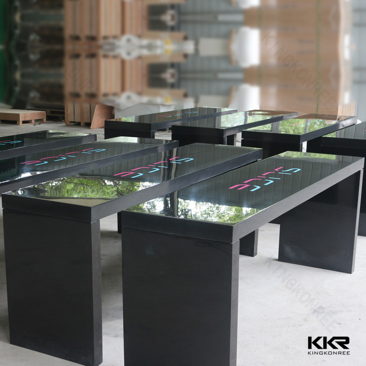 Solid Surface White High Gloss Bar Table Tables Product On Alibaba