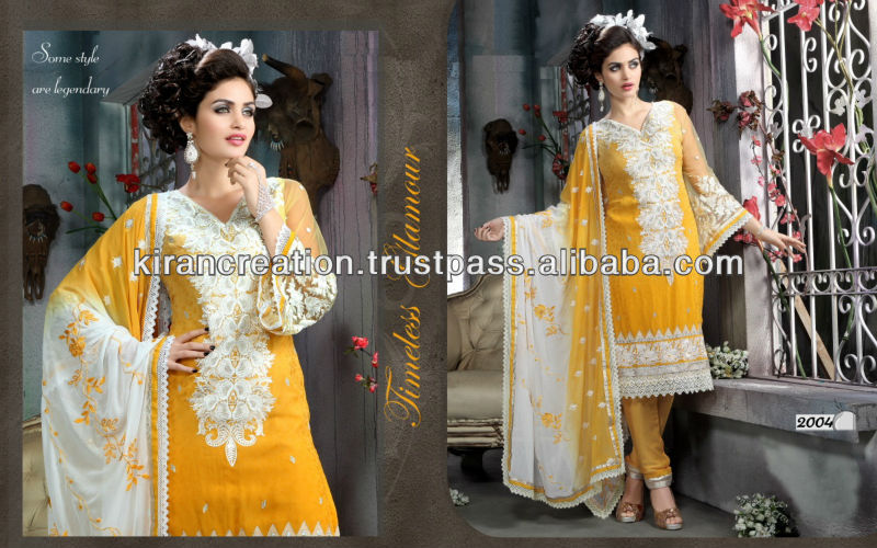 Yellow Fashional Design Salwar Suit