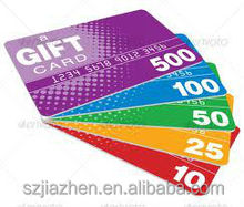 hot factory supply frosted gift card with best quality and cheapest price