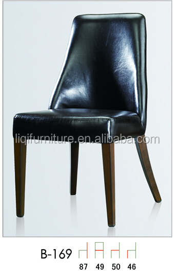 quality strong leather upholstered hotel lounge chair in aluminum QL-B169